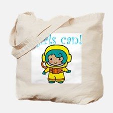 Girl Astronaut Tote Bag