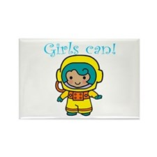 Girl Astronaut Rectangle Magnet