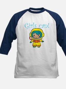 Girl Astronaut Kids Baseball Jersey