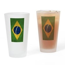 Cute Brazil flag Drinking Glass