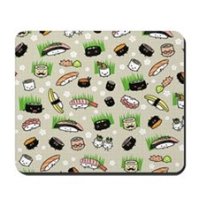 Sushi Characters Pattern Mousepad