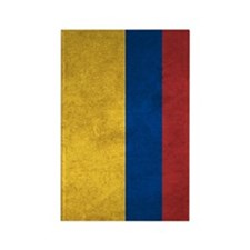 Colombia Flag Vintage / Distresse Rectangle Magnet