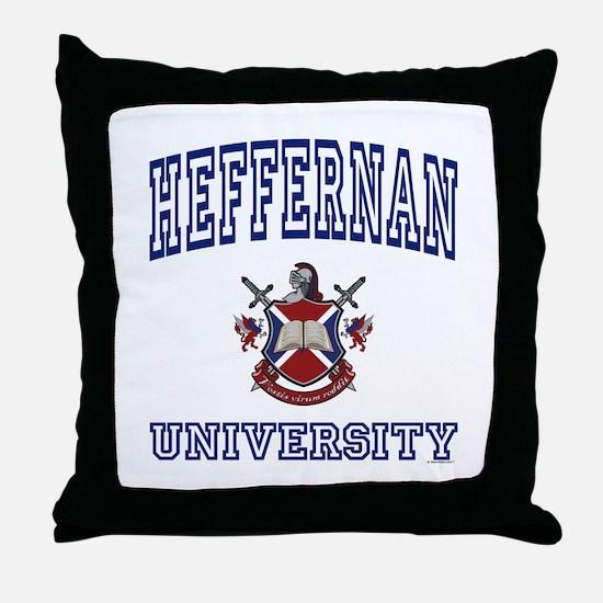 HEFFERNAN University Throw Pillow