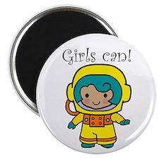 "Girl Astronaut 2.25"" Magnet (10 pack)"