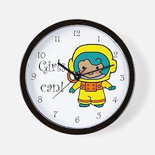 Girl Astronaut Wall Clock