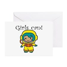 Girl Astronaut Greeting Cards (Pk of 10)