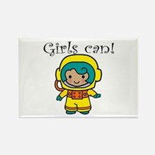 Girl Astronaut Rectangle Magnet