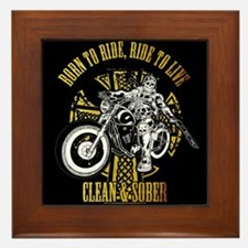 Cute Clean and sober Framed Tile