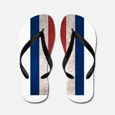 Cute Costa rica flag Flip Flops