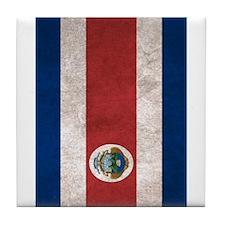 Cute Costa rica flag Tile Coaster