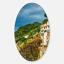 Cinque Terre. The stunning shorelin Sticker (Oval)