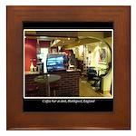 Coffee Bar at Dusk Framed Tile