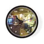 Coffee Bar at Dusk Wall Clock