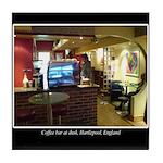 Coffee Bar at Dusk Tile Coaster