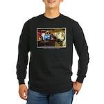 Coffee Bar at Dusk Long Sleeve Dark T-Shirt
