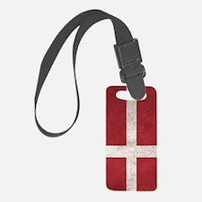 Denmark Flag Vintage / Distresse Luggage Tag