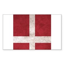 Denmark Flag Vintage / Distressed Decal