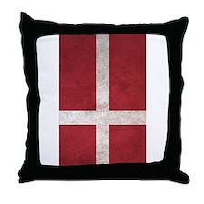 Cute Flag of denmark Throw Pillow