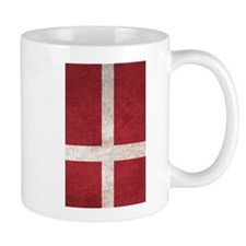 Denmark Flag Vintage / Distressed Mugs
