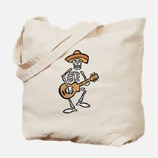 mariachi skeleton Tote Bag