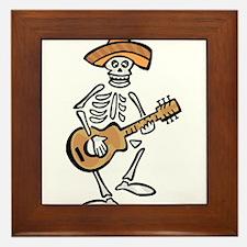 mariachi skeleton Framed Tile
