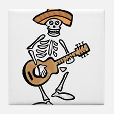 mariachi skeleton Tile Coaster