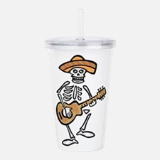mariachi skeleton Acrylic Double-wall Tumbler
