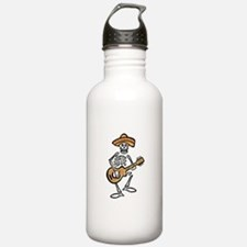 mariachi skeleton Water Bottle