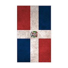 Dominican Republic Flag Vintag Decal