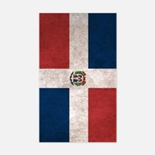 Dominican Republic Flag Vintag Decal
