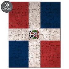 Dominican Republic Flag Vintage / Distresse Puzzle