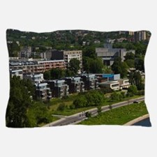 Elevated view of Neris River from Gedi Pillow Case