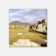 """Roman ruins at Pompeii. The Square Sticker 3"""" x 3"""""""