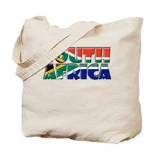 Word Art Flag South Africa Tote Bag