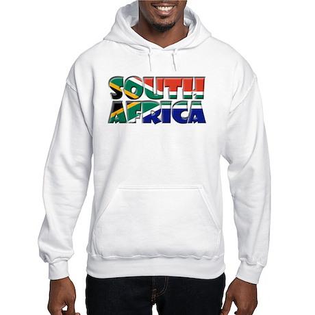 Word Art Flag South Africa Hooded Sweatshirt