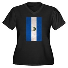 El Salvador Flag Vintage / Distressed Plus Size T-