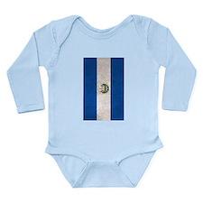 El Salvador Flag Vintage / Distressed Body Suit