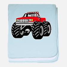 Red MONSTER Truck baby blanket