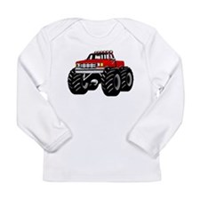Red MONSTER Truck Long Sleeve Infant T-Shirt