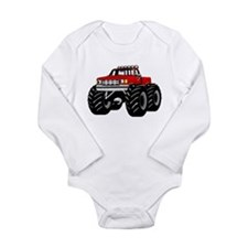 Red MONSTER Truck Baby Suit