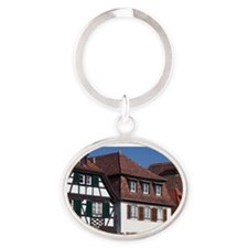 Alsace Region Oval Keychain