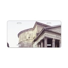 The Pantheon, Rome, 25 BC. Aluminum License Plate