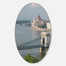 Szechenyi (Chain) Bridge & Peste Hi Sticker (Oval)