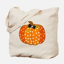 Polka Dot Pumpkin Tote Bag