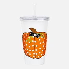 Polka Dot Pumpkin Acrylic Double-wall Tumbler