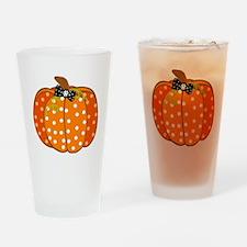 Polka Dot Pumpkin Drinking Glass