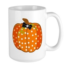 Polka Dot Pumpkin Mugs