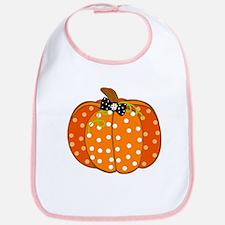 Polka Dot Pumpkin Bib