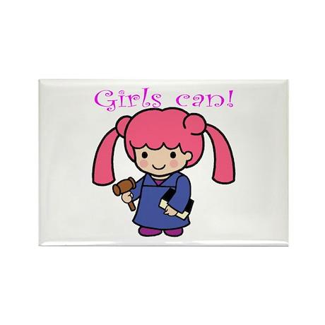 Girl Judge Rectangle Magnet (10 pack)