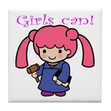 Girl Judge Tile Coaster